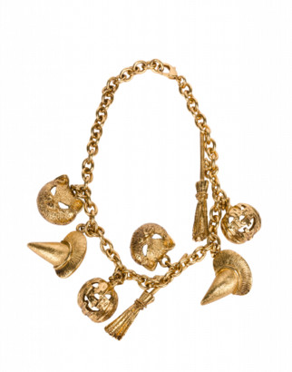 Moschino Charms Necklace Woman Gold Size U It - (one Size Us)