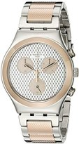 Swatch Women's YCS581G Irony Analog Display Swiss Quartz Two Tone Watch