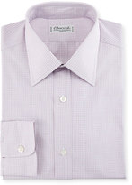 Charvet Micro Gingham Cotton Dress Shirt, Pink/White