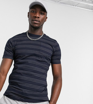 French Connection Tall striped t-shirt in navy