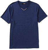 Murano Dublin Collection Slim-Fit Contrast V-Neck Short-Sleeve Solid Tee