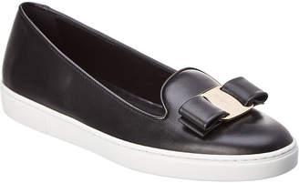 Salvatore Ferragamo Novello Leather Slip-On Sneaker