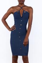 BLUE S Denim Knee Dress