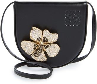 Loewe Small Heel Metal Flower Leather Bag