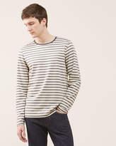 Melange Stripe Long Sleeve Breton