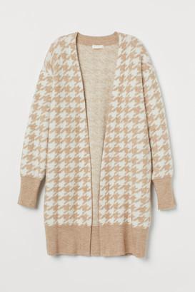 H&M Jacquard-knit Cardigan - White