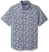Nautica Men's Short Sleeve Printed Button Down Shirt