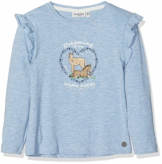 Salt&Pepper Salt and Pepper Girls' Longsleeve Horses II Ruschen T-Shirt