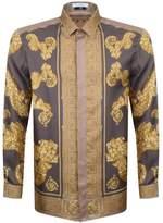 Versace Baroque Shirt Brown