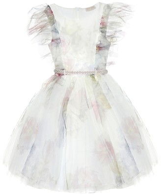MonnaLisa Floral tulle dress