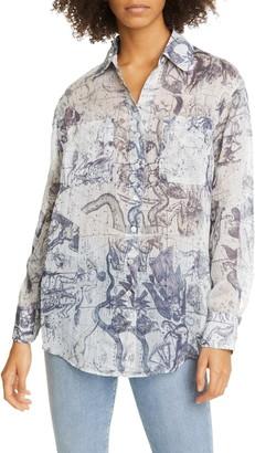 Raquel Allegra Zodiac Print Shirt