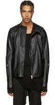 Rick Owens Black Leather Cyclop Biker Jacket