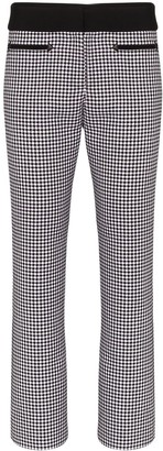 Paco Rabanne Cropped Houndstooth Slim-Fit Trousers