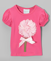 Tutus by Tutu AND Lulu Hot Pink Flutter Flower Tee - Infant Toddler & Girls