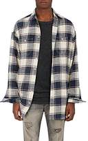 R 13 Men's Windowpane-Checked Flannel Shirt