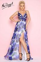 Mac Duggal Flash - 66077 V Neck Gown In Blue Multicolor