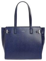 Lodis Jem Multifunction Leather Tote - Blue