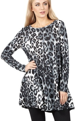 M&Co Izabel animal print swing dress