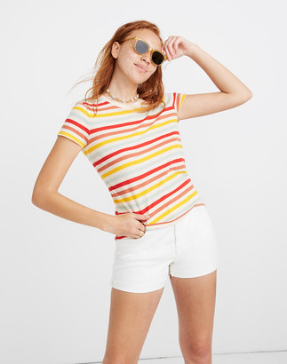 Madewell Lo-Fi Shrunken Tee in Lennie Stripe