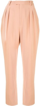 Sally LaPointe Matte Crepe Trousers