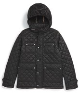 Burberry 'Halesworth' Quilted Field Jacket (Little Boys & Big Boys)
