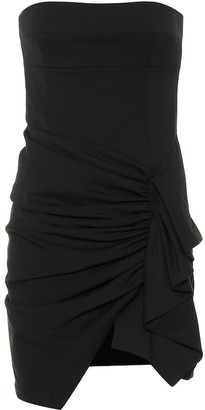 Alexandre Vauthier Strapless stretch wool minidress