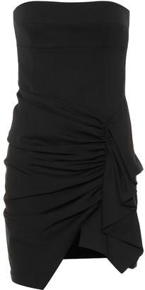 Alexandre Vauthier Strapless stretch wool minidress