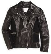 Gucci Girl's Nappa Leather & Merino Wool Jacket