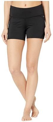 Jockey Active Marathon Performance Demi Bike Shorts (Deep Black) Women's Shorts