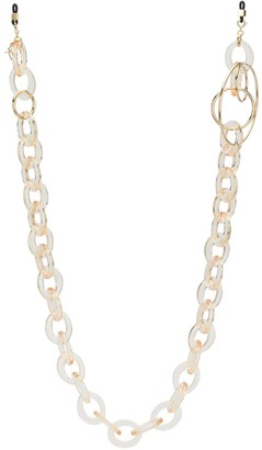 Emmanuelle Khanh Oversized Ring Sunglasses Chain