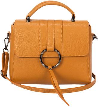 Italian Leather Lisa Minardi Leather Top Handle Crossbody