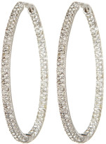 Nadri Large In Out Bombey Crystal Oval Hoop Earrings