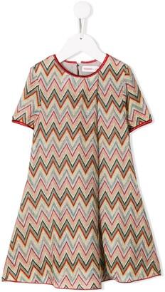 Missoni Kids Zigzag Pattern Knitted Dress