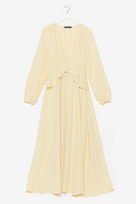 Nasty Gal Womens So Long Ruffle Maxi Dress - Lemon