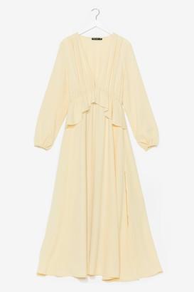 Nasty Gal Womens So Long Ruffle Maxi Dress - Yellow - 10