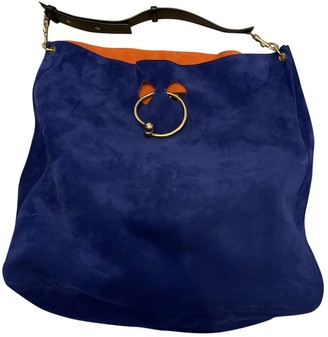 J.W.Anderson Pierce Blue Suede Handbags