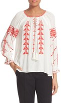 Parker 'Felicia' Embroidered Peasant Blouse