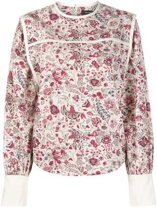 Isabel Marant Casey floral-print blouse