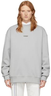 Ader Error Grey Oversized Logo Sweatshirt