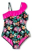 CircoTM Girls' Circo Plus Size One Piece Floral Print Swimsuit