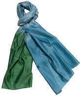 One Kings Lane Silk & Merino Wool Wrap - Emerald