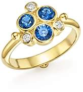 Temple St. Clair 18K Yellow Gold Sapphire and Diamond Trio Ring