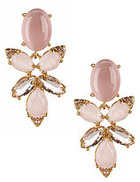 Kate Spade Blushing Blooms Drop Statement Earrings