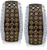 LeVian Le Vian Chocolatier® Diamond Hoop Earrings (2 ct. t.w.) in 14k White Gold