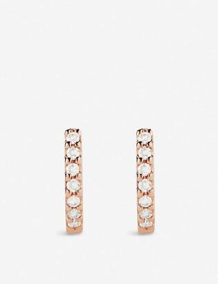 The Alkemistry Dana Rebecca Huggie rose-gold and diamond earrings