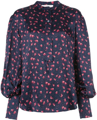 Chloé Printed Buttoned Blouse