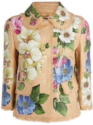 Dolce & Gabbana Raffia Blazer