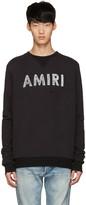 Amiri Black Distressed Logo Pullover