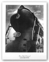 """McGaw Graphics New York Central Locomotive by Anonymous 25""""x20"""" Art Print Poster"""