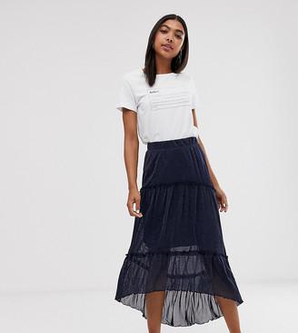 Minimum layered maxi skirt-Navy